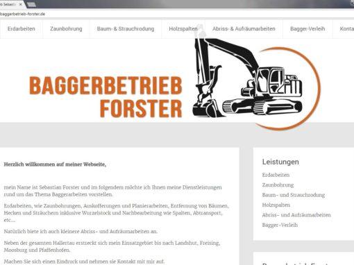Baggerbetrieb Forster