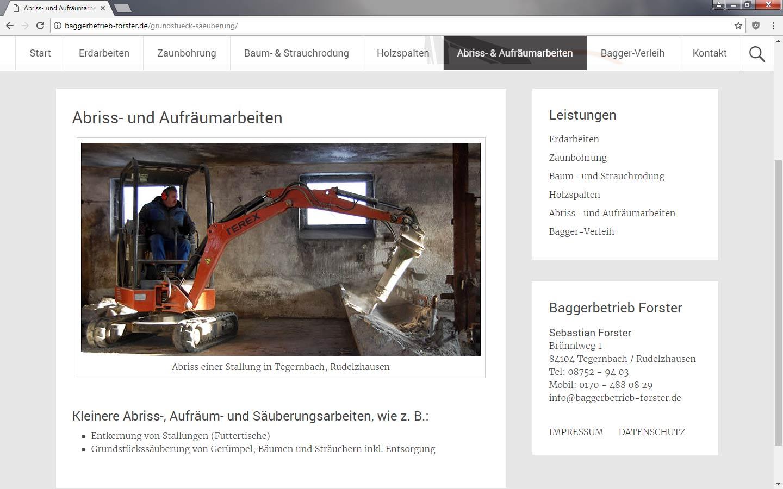 Baggerbetrieb Forster, Tegernbach